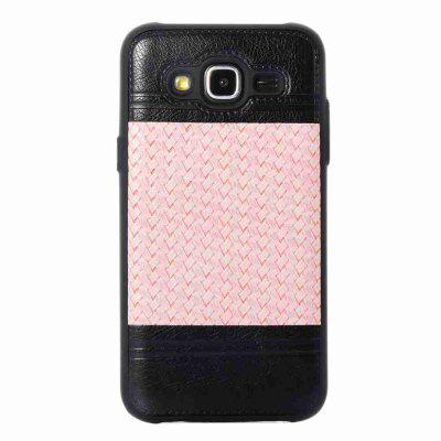 Buy MARIGOLD Plating Button Two-Color Woven Pattern TPU Paste Skin Phone Case for Samsung Galaxy J5 2015 for $4.65 in GearBest store