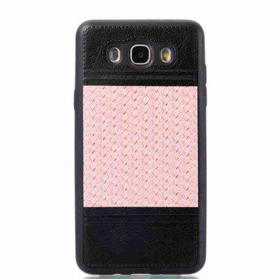 Buy MARIGOLD Plating Button Two-Color Woven Pattern TPU Paste Skin Phone Case for Samsung Galaxy J7 2016 for $4.66 in GearBest store
