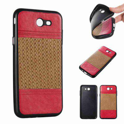 Buy LIGHT BROWN Plating Button Two-Color Woven Pattern TPU Paste Skin Phone Case for Samsung Galaxy J7 2017 for $4.77 in GearBest store