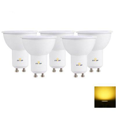 Buy WARM WHITE LIGHT EXUP GU10 560LM 7W LED Spotlight 5PCS for $18.30 in GearBest store