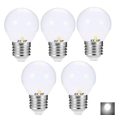 Buy WHITE LIGHT EXUP 5PCS 5W E27 450LM LED Globe Bulb for $12.65 in GearBest store