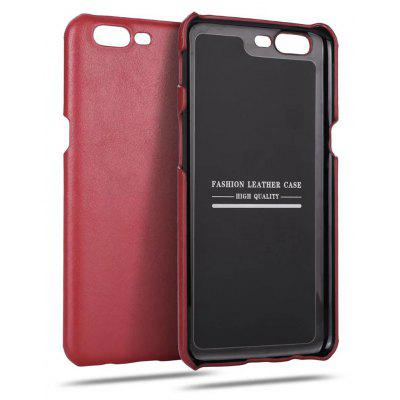 Wkae Genuine Leather Durable Back Cover Vintage Frosted Shock Resistant Shell Case for OnePlus 5