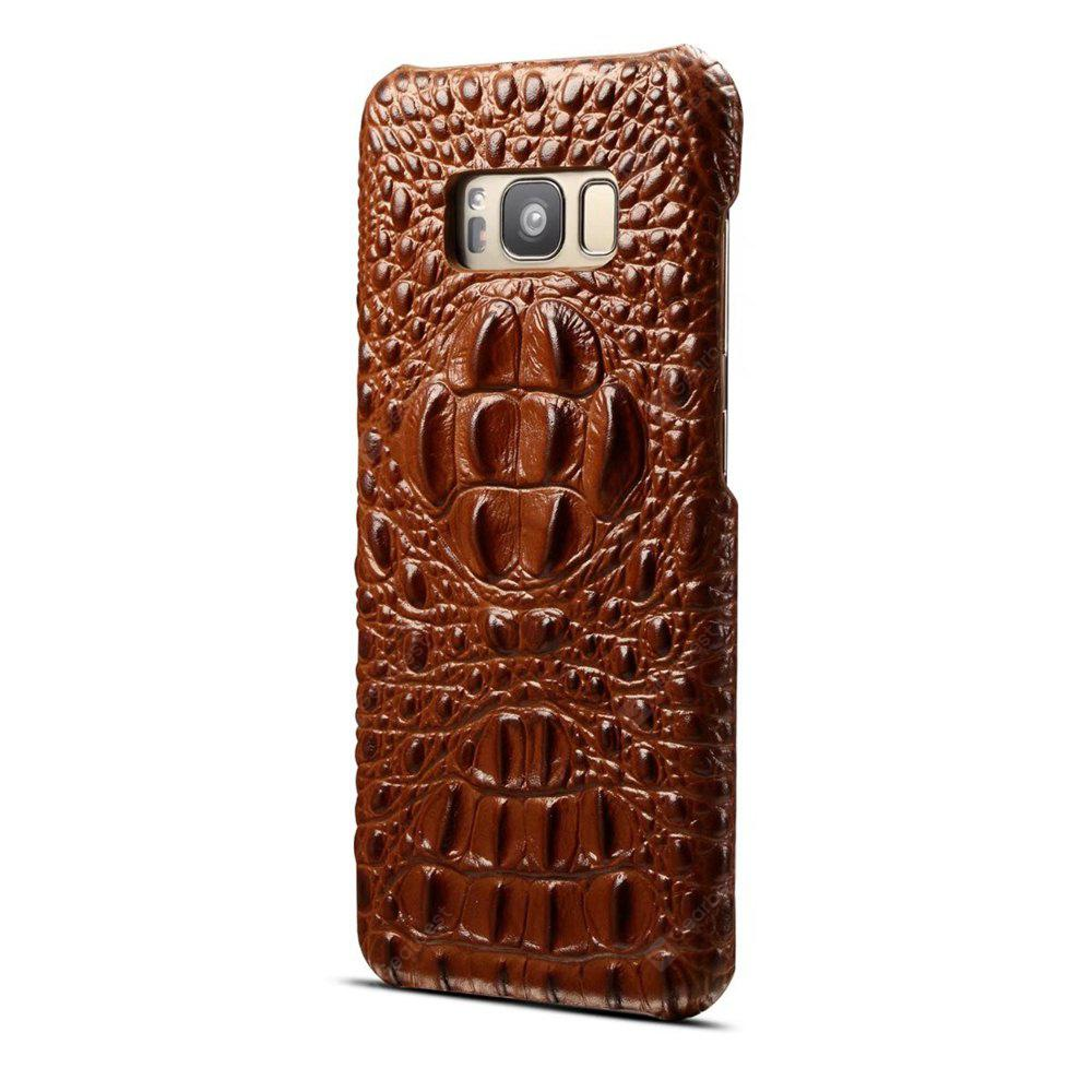 Wkae High Quality Luxury 3D Crocodile Grain Texture Genuine Leather Bumper Case Shock Resistant Hard Back Cover For Samsung Galaxy S8
