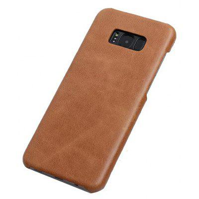 Wkae Genuine Leather Durable Back Cover Retro Frosted Shell Case For Samsung Galaxy S8 Plus