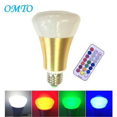 Buy GOLD OMTO E27 10W A19 Timing Remote Controller RGBW Color Changing LED Light Bulbs,Dimmable 85-265V,Daylight White and Color Ambiance Extension for $11.06 in GearBest store