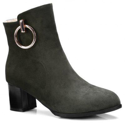 Women's Ankle Boots Metal Decor Faddish Boots