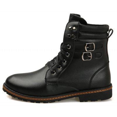 """Men S Shoes Fashion Martin Boots High BootsMens Boots<br>Men S Shoes Fashion Martin Boots High Boots<br><br>Boot Height: Ankle<br>Boot Type: Riding/Equestrian<br>Closure Type: Lace-Up<br>Embellishment: None<br>Gender: For Men<br>Heel Hight: Flat(0-0.5"""")<br>Heel Type: Low Heel<br>Outsole Material: Rubber<br>Package Contents: 1 x Pair of Shoes<br>Pattern Type: Solid<br>Season: Winter<br>Toe Shape: Round Toe<br>Upper Material: Microfiber<br>Weight: 1.2000kg"""