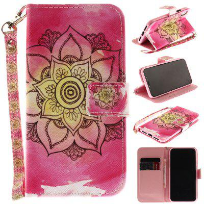 Buy PINK Pink Flower Pattern Wrist Strap Premium Flip Wallet Protective Case Card Slots Pu+Tpu Leather Folio Magnetic Closure Stand Cover for Iphone X, 2017 5.8 Inch for $4.21 in GearBest store