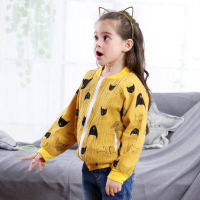 Girls Long Sleeve Fish Pattern CoatGirls Outerwear<br>Girls Long Sleeve Fish Pattern Coat<br><br>Closure Type: Zipper<br>Clothes Type: Jackets<br>Collar: Round Collar<br>Embellishment: Zippers<br>Material: Cotton<br>Package Contents: 1 x Coat<br>Pattern Type: Geometric<br>Shirt Length: Regular<br>Sleeve Length: Full<br>Style: Europe and the United States<br>Type: Slim<br>Weight: 0.1200kg