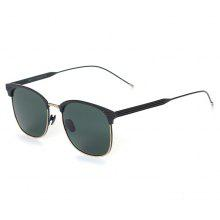 TOMYE 9916 Metal Round Frame Polarized Sunglasses for Men and Women