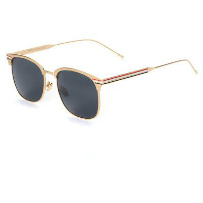 Buy GOLDEN+GREY TOMYE 9916 Metal Round Frame Polarized Sunglasses for Men and Women for $15.62 in GearBest store