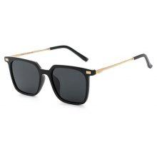 TOMYE 9926 2017 New PC Metal Square Fashion Polarized Sunglasses for Men and Women