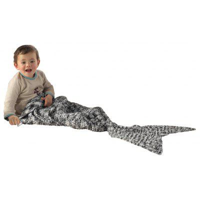 I-Baby Mermaid Tail Knit Crochet Blanket for Toddler Kid and Adult