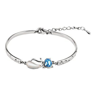Customer Reviews for Bangle Bracelet Made with Blue Swarovski Crystal Cat Shape Fairytale Design | GearBest.com