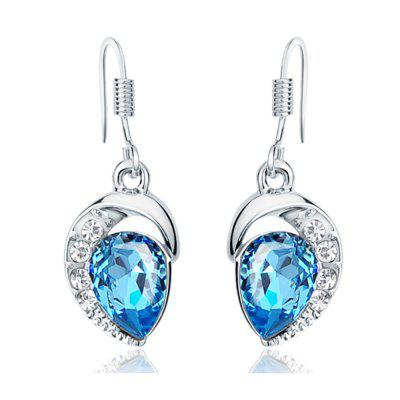 Buy Ouxi Drop Earrings with Swarovski Crystals, Waterdrop Dangle for Pierced Earrings, SILVER AND BLUE, Watches & Jewelry, Fashion Jewelry, Earrings for $15.59 in GearBest store