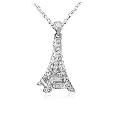 Buy FROST Sterling Silver 3D Paris Eiffel Tower Pendant Necklace Jewelry for Women & Girls as a Gift for $34.00 in GearBest store