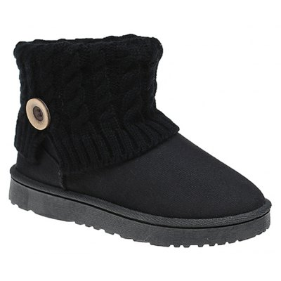 Buy BLACK 38 Anti-Skid Boots Female Winter Wool Frosted Short Thick Soled Shoes With Flat Tube Snow Cashmere Thermal Short Boots for $45.00 in GearBest store