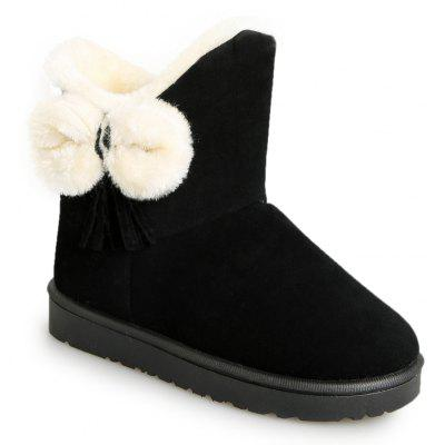 Buy BLACK 37 Winter Short Female Short Sleeve Snow Boots Fashionable Suede Plus Anti Slip Boots for $48.00 in GearBest store