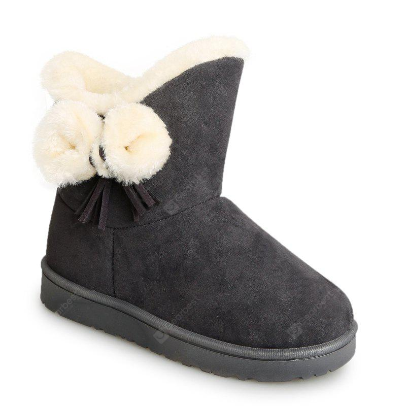 OYSTER 36 Winter Short Female Short Sleeve Snow Boots Fashionable Suede Plus Anti Slip Boots