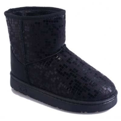 Buy BLACK 40 New Women's Fashion Winter And Winter Plus Velvet Warm Snow Boots Flat Bottomed Boots for $47.00 in GearBest store