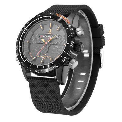 JEISO 1701 4618 Luminous Alarm Clock Function Men WatchMens Watches<br>JEISO 1701 4618 Luminous Alarm Clock Function Men Watch<br><br>Band material: Silicone<br>Band size: 23 x 2.4cm<br>Brand: JEISO<br>Case material: Alloy<br>Clasp type: Pin buckle<br>Dial size: 4.6 x 4.6 x 1.6cm<br>Display type: Analog-Digital<br>Movement type: Quartz + digital watch<br>Package Contents: 1 x Watch, 1 x Watch Box<br>Package size (L x W x H): 28.00 x 8.00 x 3.50 cm / 11.02 x 3.15 x 1.38 inches<br>Package weight: 0.1420 kg<br>Product size (L x W x H): 23.00 x 4.60 x 1.60 cm / 9.06 x 1.81 x 0.63 inches<br>Product weight: 0.1120 kg<br>Shape of the dial: Round<br>Watch mirror: Mineral glass<br>Watch style: Fashion, Trends in outdoor sports, Casual<br>Watches categories: Men<br>Water resistance: 30 meters