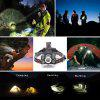 U`King ZQ - X844 Rechargeable 4 Mode Zoomable Headlamp - SILVER AND BLACK