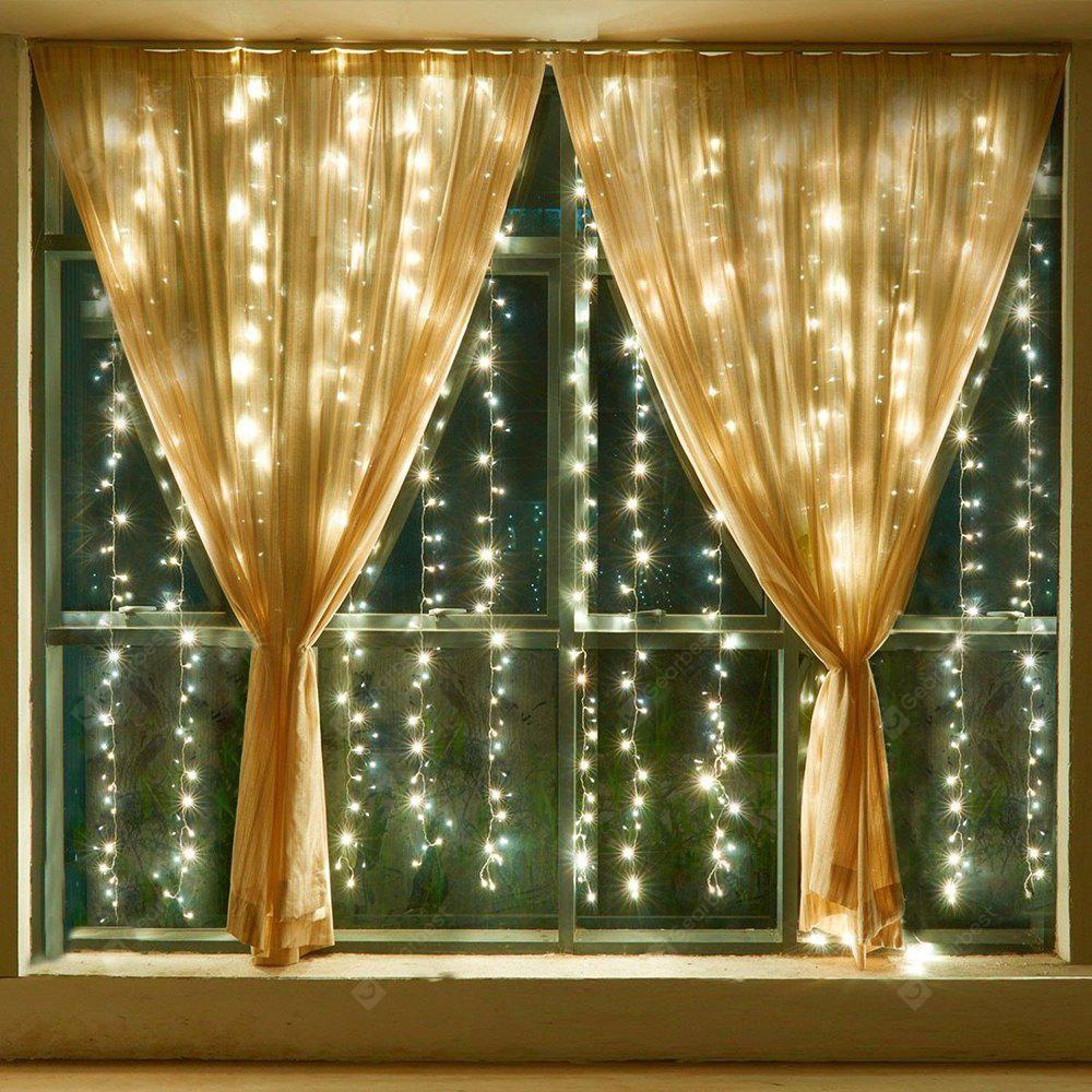 KWB Led String Curtain Lights 19.68ft x 9.84 ft Warm white / White WARM WHITE LIGHT