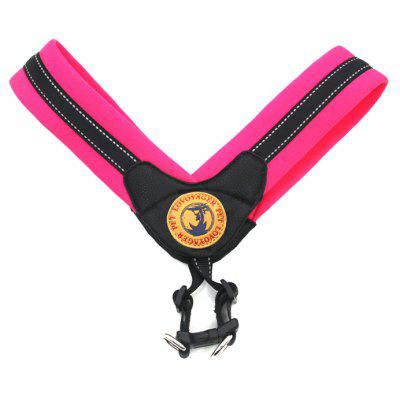 Buy ROSE RED L Lovoyager LVH16004 Reflective Small Large Dog Harness Portable Pet Dog Training Vest Collar with Bright Color S To L for $14.88 in GearBest store