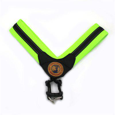Buy GREEN L Lovoyager LVH16004 Reflective Small Large Dog Harness Portable Pet Dog Training Vest Collar with Bright Color S To L for $14.88 in GearBest store