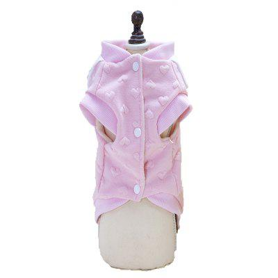 Lovoyager A714 Peach-Heart Bird-Dog Cotton ClothesDog Clothing &amp; Shoes<br>Lovoyager A714 Peach-Heart Bird-Dog Cotton Clothes<br><br>Color: Pink,Yellow<br>Fit: Teddy Dog,ChiHuaHua Small Cats Small Dog<br>For: Dogs<br>Functions: Others<br>item: dog clothes<br>Material: Cotton<br>Package Contents: 1 x Dog Coat<br>Package size (L x W x H): 28.00 x 20.00 x 3.00 cm / 11.02 x 7.87 x 1.18 inches<br>Package weight: 0.1200 kg<br>Season: Spring, Autumn<br>Size: Others<br>Type: Others