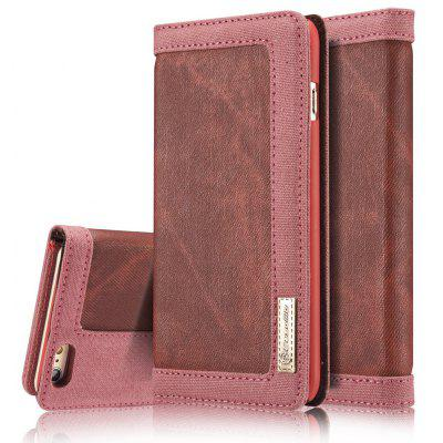 CaseMe Magnetic Closure Mixed Stitching Cowboy Jeans Leather Wallet Stand Case for iPhone 6 / 6s