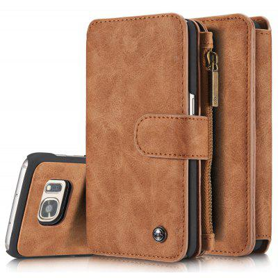 CaseMe Genuine Leather Holster Wallet Case for Samsung Galaxy S7