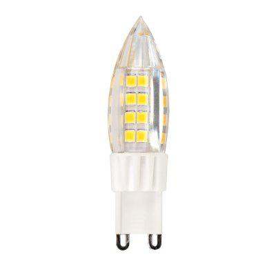 (5 Pcs) 4W G9 Led Lights Candle Bulb Home Decoration 2835 Smd Ac 220V - 240VLED Bi-pin Lights<br>(5 Pcs) 4W G9 Led Lights Candle Bulb Home Decoration 2835 Smd Ac 220V - 240V<br><br>Available Light Color: Warm White,Cold White<br>CCT/Wavelength: 5500-6500K,2800-3500K<br>Certifications: CE,RoHs<br>Emitter Types: SMD 2835<br>Features: Energy Saving, Low Power Consumption<br>Function: playing fields,  public places,  including building and landscape beautification, Outdoor lighting, Studio and Exhibition Lighting, Commercial Lighting, Home Lighting,  stage lighting<br>Holder: G9<br>Package Contents: 1 x Led Light<br>Package size (L x W x H): 6.00 x 2.00 x 2.00 cm / 2.36 x 0.79 x 0.79 inches<br>Package weight: 0.1000 kg<br>Sheathing Material: Plastic<br>Type: Candle Bulbs<br>Voltage (V): AC 220-240