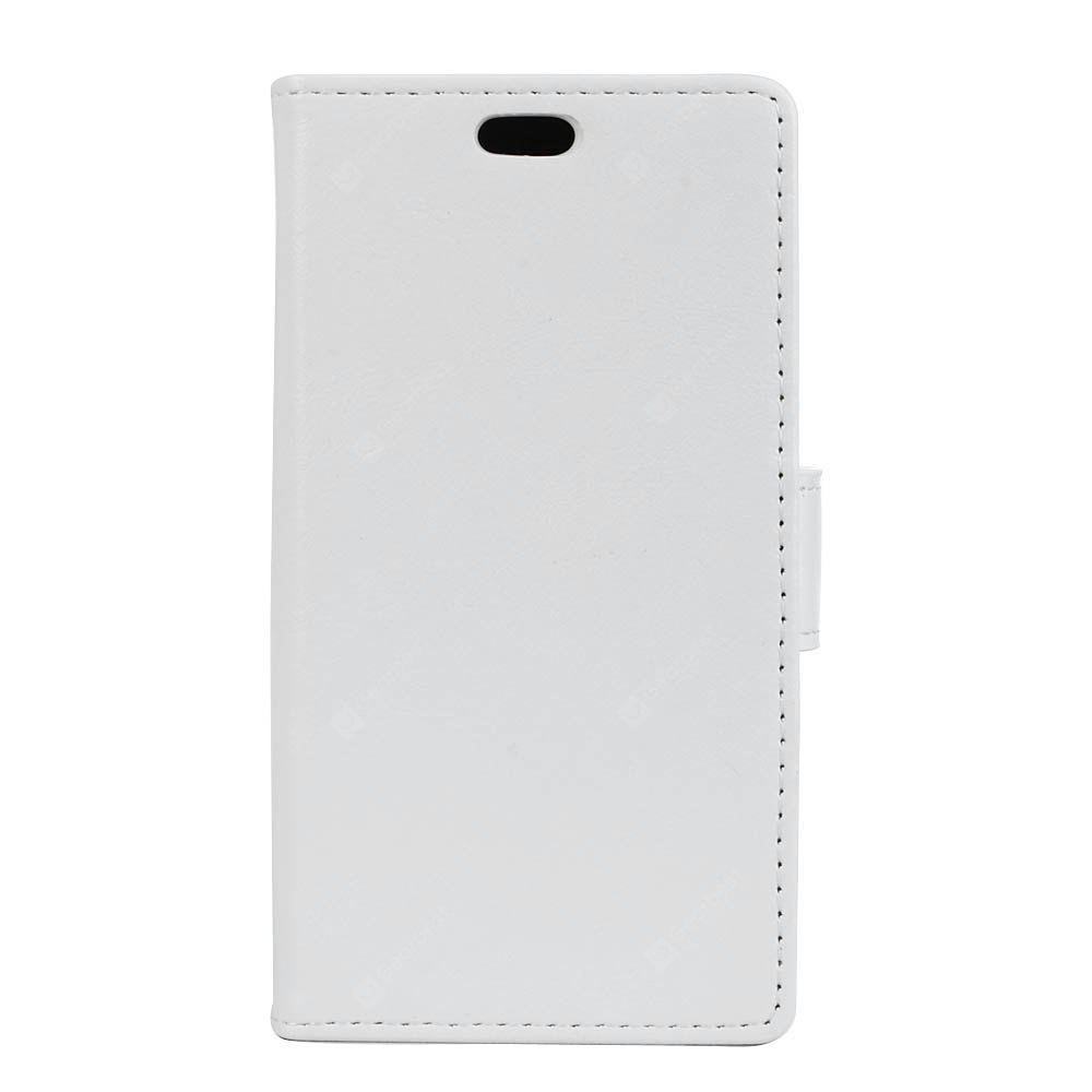 Kazine Pu Leather Silicon Magnetic Dirt Resistant Phone Bags Cases Lenovo A2020 White For