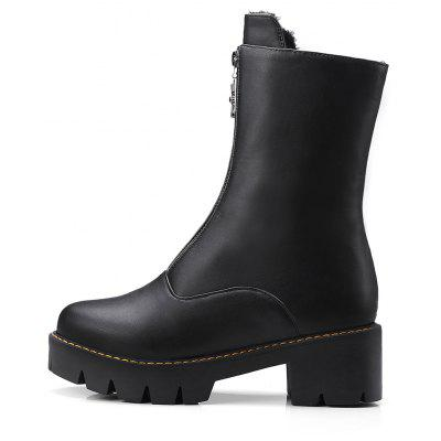 Womens Fashion Solid Color Comfy Leisure Martin BootsWomens Boots<br>Womens Fashion Solid Color Comfy Leisure Martin Boots<br><br>Boot Height: Ankle<br>Boot Tube Height: 18<br>Boot Type: Riding/Equestrian<br>Closure Type: Zip<br>Gender: For Women<br>Heel Height: 5<br>Heel Height Range: Med(1.75-2.75)<br>Heel Type: Chunky Heel<br>Package Contents: 1 x Shoes<br>Pattern Type: Solid<br>Season: Spring/Fall, Winter<br>Toe Shape: Round Toe<br>Upper Material: PU<br>Weight: 1.6588kg