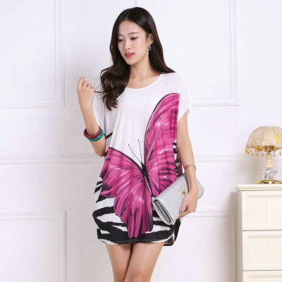 Womens Fashion Casual Large Size Silk Printing T-shirt WYD014Tees<br>Womens Fashion Casual Large Size Silk Printing T-shirt WYD014<br><br>Collar: Round Neck<br>Elasticity: Super-elastic<br>Fabric Type: Velour<br>Material: Rayon<br>Package Contents: 1xT-shirt<br>Pattern Type: Solid<br>Shirt Length: Regular<br>Sleeve Length: Half<br>Style: Casual<br>Weight: 0.1500kg