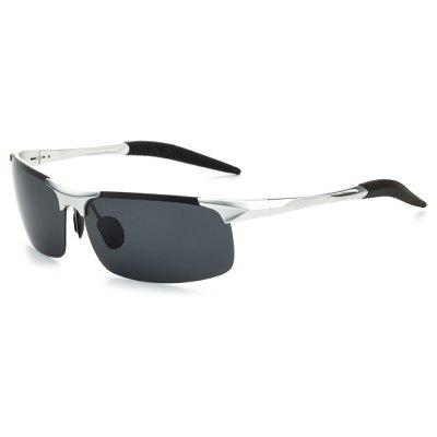 Buy SILVER TOMYE 8177 Outdoor Sports Polarized Lens Unisex Sunglasses for $18.35 in GearBest store