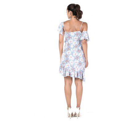 Beauty Garden Womens  Printed Cut Out Asymetric Hem Casual Dress With Ruffle DecorationWomens Dresses<br>Beauty Garden Womens  Printed Cut Out Asymetric Hem Casual Dress With Ruffle Decoration<br><br>Dresses Length: Knee-Length<br>Elasticity: Nonelastic<br>Fabric Type: Broadcloth<br>Material: Rayon<br>Neckline: Spaghetti Strap<br>Package Contents: 1 x Dress<br>Pattern Type: Print<br>Season: Spring, Summer, Fall<br>Silhouette: Pleated<br>Sleeve Length: Short Sleeves<br>Style: Fashion<br>Weight: 1.0000kg<br>With Belt: No