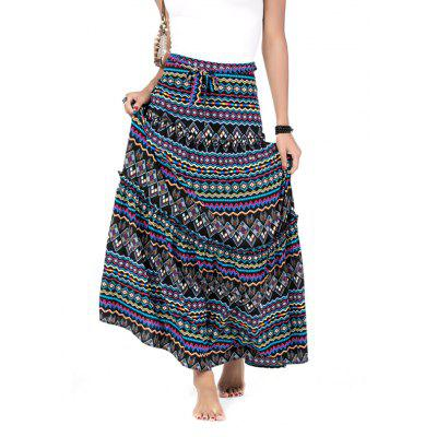 Beauty Garden Women's Print Pleated  Ankle-Length  Casual Skirts