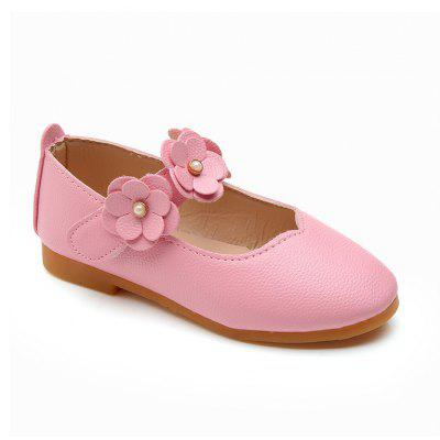 Girls Flowers Princess Shoes Single Shoes Leather Shoes