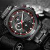 Man Watch 2017 CADISEN New Fashion Sport Military Army Top Brand Luxury Quartz Watches Stainless Steel Waterproof Wristwatch - RED WITH BLACK