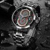 2017 New CADISEN Hot Quartz Men Watch Stainless steel Military Army Fashion Sports Luxury Brand Waterproof - BLACK AND RED
