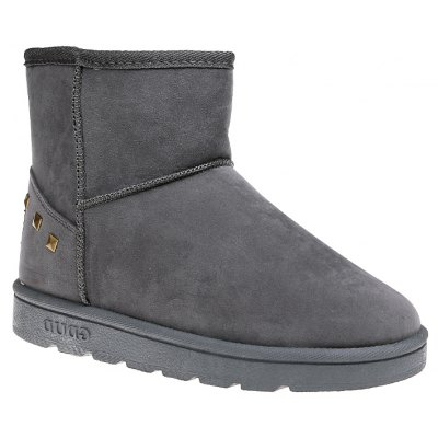 Buy OYSTER 35 Snow Boots Warm Winter Boots Shoes Female Diamond Flat Nubuck Leather Boots for $48.00 in GearBest store