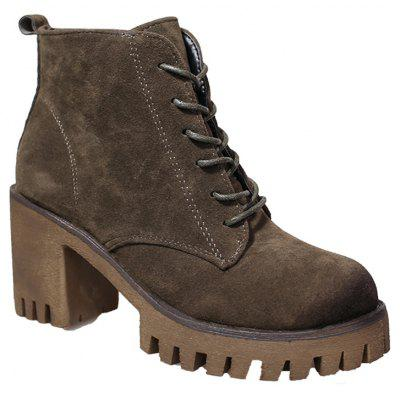 Buy HAMPTON GREEN 36 New High Heels Short Boots Women's Shoes Autumn Winter British Wind Martin Boots Boots And Boots for $60.00 in GearBest store