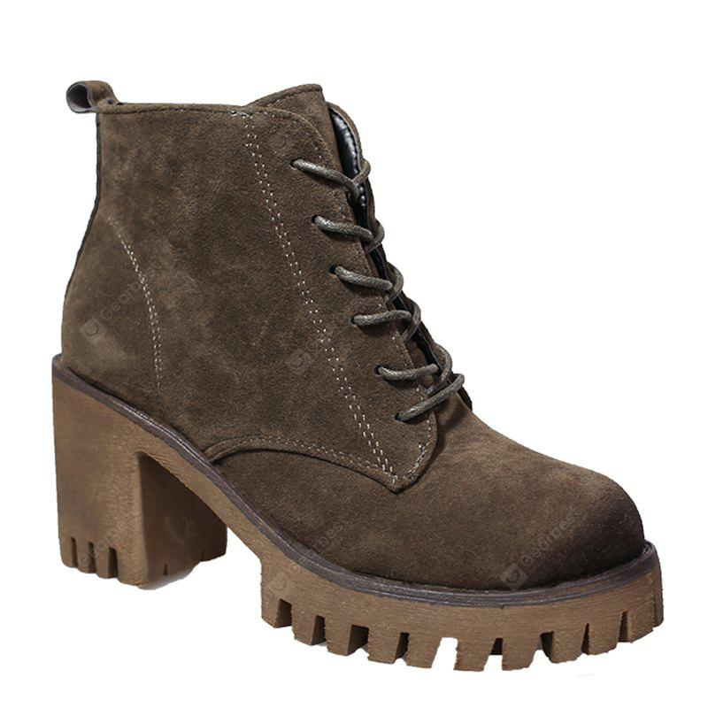 HAMPTON GREEN 35 New High Heels Short Boots Women's Shoes Autumn Winter British Wind Martin Boots Boots And Boots