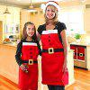 AY - hq241 Nonwovens Christmas Apron Christmas Decoration - RED