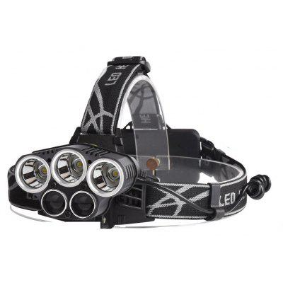 U`King ZQ-X852 8000LM Xml-T6 5 Leds Rechargeable 5 Mode Headlamp
