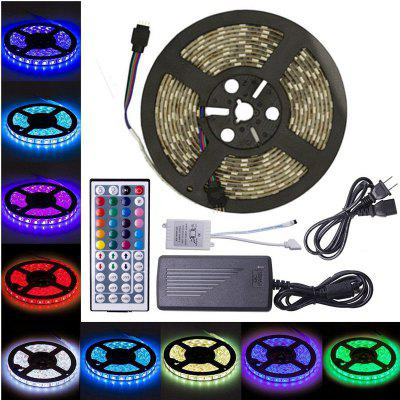 Buy RGB COLOR KWB LED Strip Light 5050 300LEDs RGB with 44 Key Controller 6A Power Supply for $27.46 in GearBest store