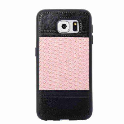 Buy MARIGOLD Plating Button Two-Color Woven Pattern TPU Paste Skin Phone Case for Samsung Galaxy S6 for $4.74 in GearBest store