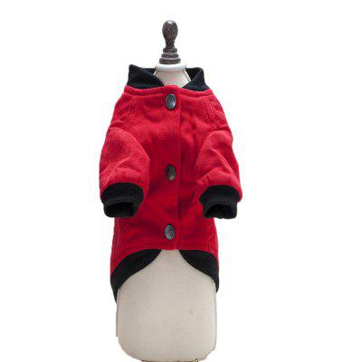 Lovoyager A710 Dog Letter Jacket with Thick PlateDog Clothing &amp; Shoes<br>Lovoyager A710 Dog Letter Jacket with Thick Plate<br><br>Color: Black,Red<br>For: Dogs<br>Functions: Others<br>item: dog  jackets<br>Material: Cotton<br>Package Contents: 1 x Dog coat<br>Package size (L x W x H): 35.00 x 25.00 x 5.00 cm / 13.78 x 9.84 x 1.97 inches<br>Package weight: 0.1400 kg<br>Season: Winter, Autumn<br>Size: Others<br>style: canvas jacket  for teddy?bulldog<br>Type: Others